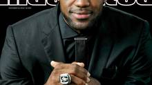 This image provided by Sports Illustrated shows the cover of the Dec. 10, 2012 issue, on sale now, featuring LeBron James who has been named the Sports Illustrated Sportsman of the Year 2012 (Walter Iooss Jr./AP)