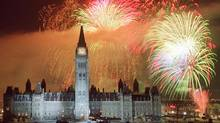 Fireworks on Parliament Hill (Adrian Wyld stringer)
