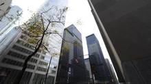File photo of Toronto's financial district in the King St. West and Bay St area. (Fred Lum/Fred Lum/The Globe and Mail)