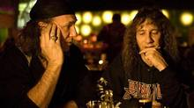 "Anvil is just one of a conspicuous crop of noteworthy recent music documentaries. ANVIL! THE STORY OF ANVIL - A Film by Sacha Gervasi. Anvil co-founders Robb Reiner (L) and Steve ""Lips"" Ludlow contemplate their bandês future in a scene from Sacha Gervasiês feature documentary, ANVIL! (Brent J. Craig/<137>Photo by<137>brentjcraig.com)"