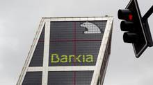 The Bankia bank headquarters is seen in Madrid, Monday May 7, 2012. (Paul White/AP)