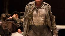Brian Dennehy as Pozzo with Stephen Ouimette as Estragon in Waiting for Godot. (Cylla von Tiedemann)
