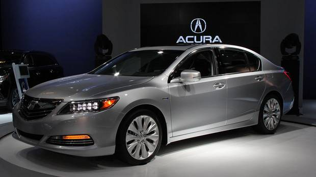 2014 Acura RLX Sport Hybrid SH-AWD: Honda's luxury brand, Acura, debuts its luxury performance sedan in Canada in Montreal. The car will have a three-motor hybrid powertrain, which will also be found in the company's NSX supercar next year.