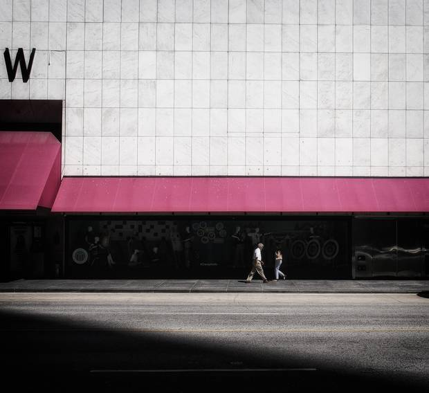 Searching for sharp contrast between light and shadow, Yang shot this photo last summer on Bloor Street.