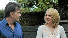 Andrea Canning talks to Charlie Sheen in Los Angeles, Feb. 26, 2011. (ABC)