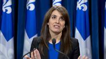 Véronique Hivon is Quebec's junior minister of social services. (Jacques Boissinot/THE CANADIAN PRESS)