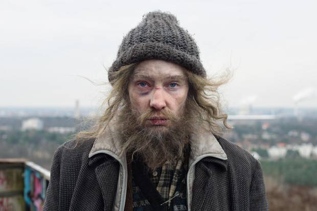 One of Manifesto's scenes features Blanchett playing a homeless man