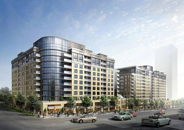 A renderings of the Medallion Corp.'s Casa Emery Village, near the planned Finch West LRT line.