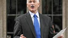 NDP Leader Jack Layton speaks during Question Period in the House of Commons on March 11, 2010. (Reuters)