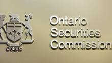 he Ontario Securities Commission sign is seen in the regulator's Toronto office. (Peter Power/Peter Power/The Globe and Mail)