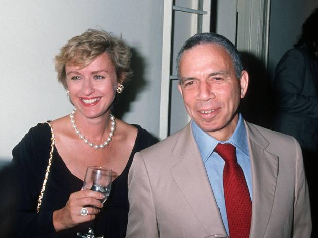 Tina Brown and S.I. Newhouse attend a party in New York in August, 1990.