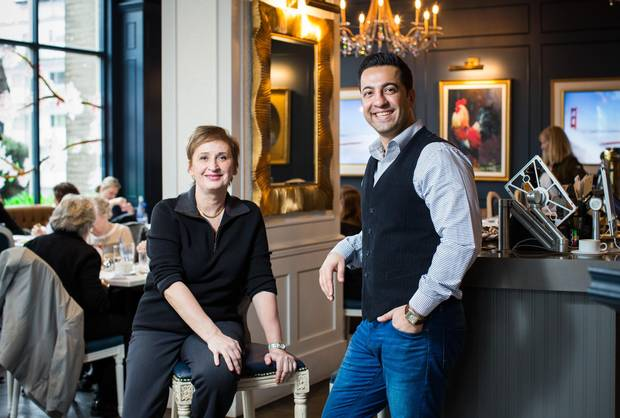 Cafe Ca Va's front house manager, Brigitte Raye, left, and owner, Amin Sabounchi.