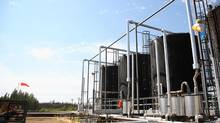 Oil storage tanks at Cenovus's operations at Pelican Lake (Rene Michaud - Bliss Photographi/EnCana Corporation)