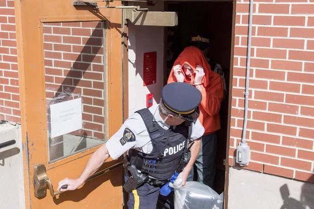 Gerald Stanley leaves in custody after a court hearing in North Battleford, Sask., in August, 2016. Loud protests greeted Mr. Stanley's court appearances.