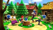 A screenshot from Mario Party 9, the first new entry in Nintendo's popular series of group-play games since 2007 (Nintendo)