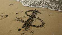 beach money sign