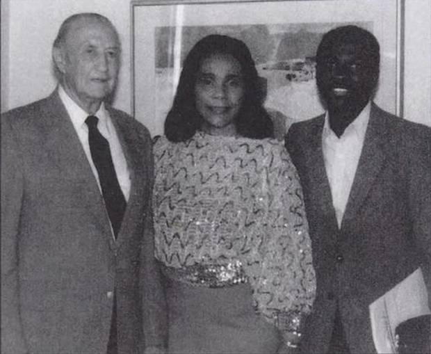 An undated photo provided by Armstrong Williams, shown at right, shows Strom Thurmond with Coretta Scott King.