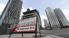 The CityPlace condominium development in downtown Toronto. About 60 per cent of mortgages underwritten by banks have some form of mortgage insurance on them. (Fred Lum/The Globe and Mail)