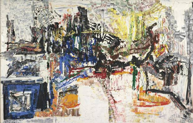 Untitled by Jean-Paul Riopelle. Oil on canvas, 1968.