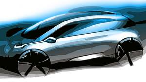 Sketch of BMW's Megacity concept car