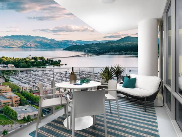 Residents of One Water Street will be afforded excellent views of Lake Okanagan.