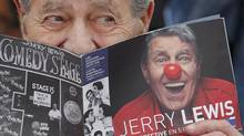 Jerry Lewis in Cannes on May 23. (REGIS DUVIGNAU/REUTERS)