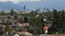 A proposed city policy could see row houses and stacked townhouses built in Vancouver neighbourhoods that have been enclaves of single-family housing until now. (Jeff Vinnick for The Globe and Mail)