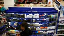The new Men's Zone isle at a Shoppers Drug Mart in Toronto. (Fernando Morales/Fernando Morales/THE GLOBE AND M)