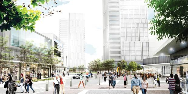 Choice Properties REIT's Golden Mile redevelopment project will include private and public community amenities.