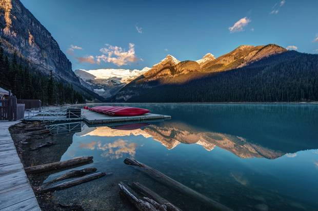 If you're planning a trip to Lake Louise this summer, plan on heading out very early in the morning to avoid the inevitable throngs of tourists.