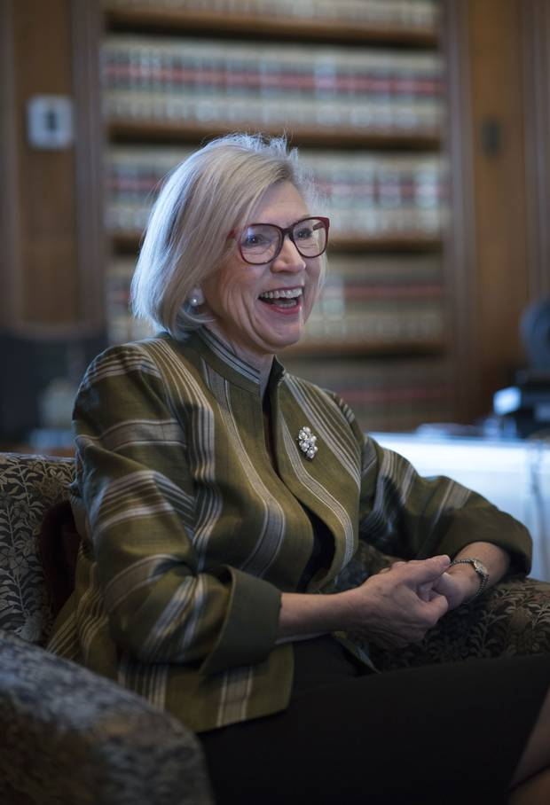Beverley McLachlin gives an interview with The Globe and Mail in her office at the Supreme Court of Canada last month, days before her retirement. She joined the nation's top court in 1989 and became its chief justice in 2000.