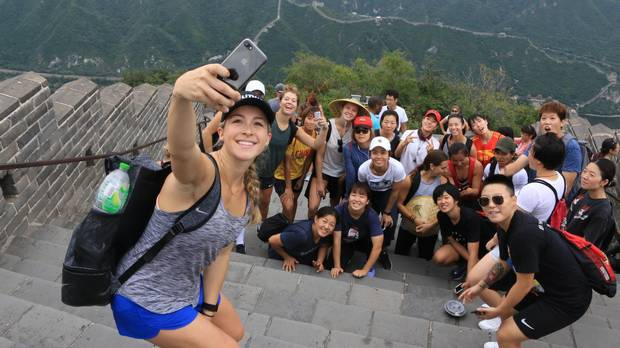 The expansion clubs spent most of September in China, visiting landmarks like The Great Wall and Tiananmen Square.