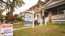 An open house in Toronto's Riverdale neighbourhood, on Oct.14, 2012. (JENNIFER ROBERTS For The Globe and Mail)