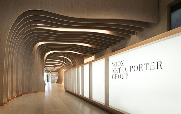 Yoox/Net-a-Porter's tech hub in London combines the company's fashion and tech philosophies in a contemporary space.