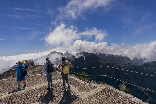 The view from Vereda do Pico Ruivo