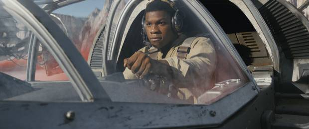 John Boyega as Finn in Star Wars: The Last Jedi.