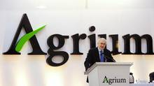 Michael Wilson, president and chief executive officer of Agrium, addresses shareholders at the company's annual general meeting in Calgary, Alberta, May 12, 2010. (TODD KOROL/REUTERS)