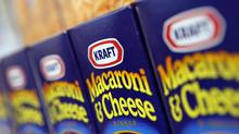 Kraft Macaroni and Cheese is displayed at the company's headquarters in Northfield, Illinois, in this February 10, 2009 file photo. (JOHN GRESS/JOHN GRESS/REUTERS)