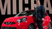 Christian Meunier, president of Nissan Canada, presented the 2015 Nissan Micra at the Montreal auto show. (Nissan)