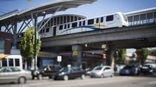 The Skytrain station at Broadway and Commercial in Vancouver, August 9, 2013. Lower Mainland mayors are concerned about the timing of a referendum on transit funding. (John Lehmann/The Globe and Mail)