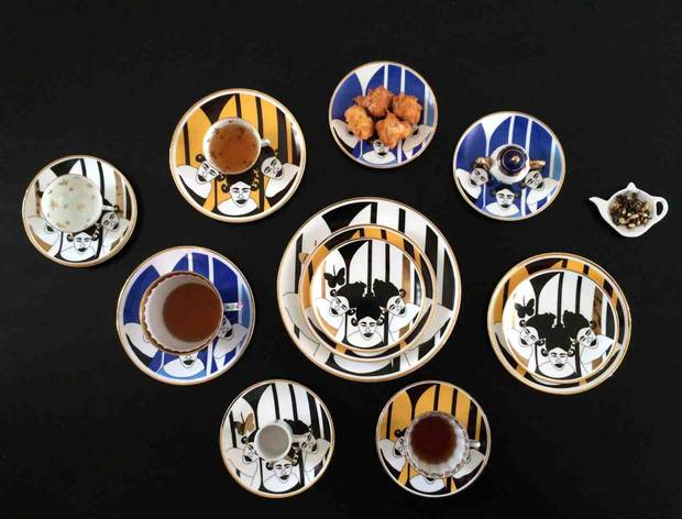 Fatyly's tableware are manufactured from bone china.