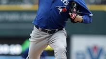 Blue Jays' Josh Johnson pitched four shutout innings in a rehab start Saturday in the Buffalo Bisons 2-1 victory over the Indianapolis Indians (file photo). (Paul Sancya/AP)
