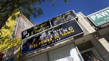 This pawn shop, located at 64A Queen St E., at Church, and photographed Aug. 24, 2012, is among a row of pawn shops at 64 Queen Street East that have recently closed or have moved. (Peter Power/The Globe and Mail)