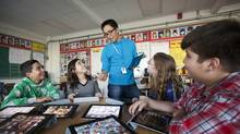 Royan Lee, a teacher at Beverley Acres Public School, uses technology to create a more interactive, collaborative and social classroom. (JENNIFER ROBERTS FOR THE GLOBE AND MAIL)