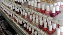 Nail care products are displayed at a beauty supply shop in San Francisco, Monday, April 9, 2012. (Marcio Jose Sanchez/Marcio Jose Sanchez/AP)