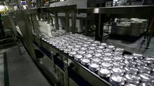 A November, 2009, file photo of Cott Corp.'s bottling plant in Toronto. (Fernando Morales/The Globe and Mail/Fernando Morales/The Globe and Mail)