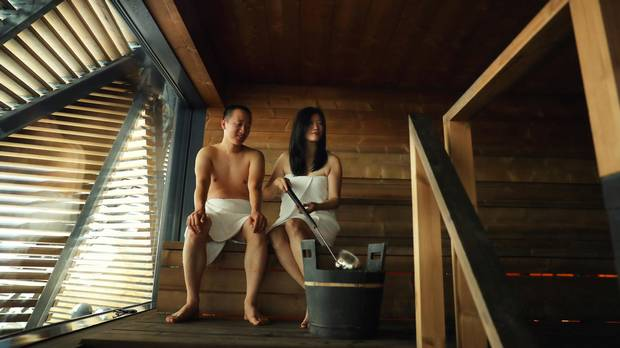 "Left: The Finns have a term for the warm sensation evoked by a sauna's steam and smoke, which they dubbed ""loyly."""