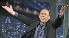 Comic Gilbert Gottfried on the Jimmy Fallon show, May 26, 2011. (Lloyd Bishop / NBC)