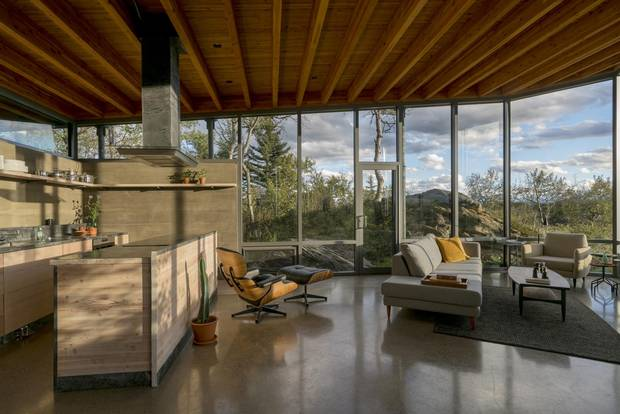 Ian MacGregor, owner of the Rock House, says it's the realization of a lifelong ambition to establish a community of world-class modern architecture amid Alberta's incredible natural landscape.