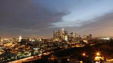 The skyline of downtown Los Angeles in March 2009. (Mario Anzuoni/Reuters)